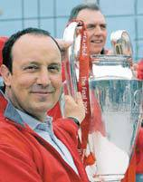 Rafa Benitez with the European Cup